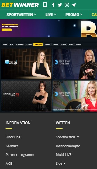 Betwiner Casino Mobile